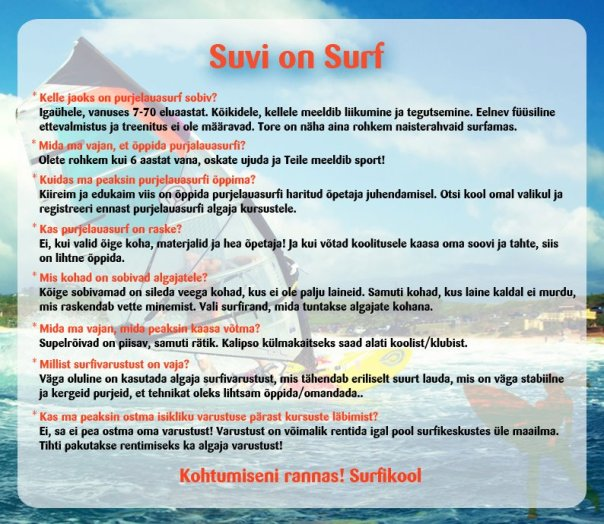 suvi on surf